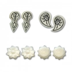 Bone & Horn Tribal  Ear Studs New Collection <b>($1.54 Each)</b>