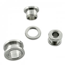 7 Sizes Surgical Steel Flesh Tunnel Screw Fit <B>($0.99 Each)</B>