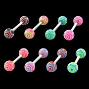 UV Spider Web Tongue Barbell <B>($0.15 Each)</B>