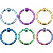 Titanium Anodized Captive BCR <B>($1.07 Each)</B>