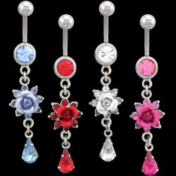 Gem Surrounded Flower with Teardrop <B>($0.99 Each)</b>