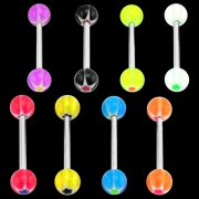 UV Glittering Star Tongue Barbell <B>($0.17 Each)</B>