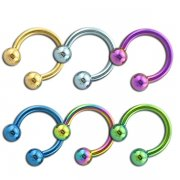 Titanium Anodized Horseshoe CBR<b> ($1.02 Each)</b>