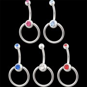 Double-Gem Navel Door-Knocker Banana <B>($0.99 Each)</b>