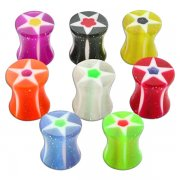 UV Glittering Star Ear Plug <B>($0.17 Each)</B>