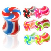 UV Reactive NEW Twister Flared Ear Plug <B>($0.17 Each)</B>