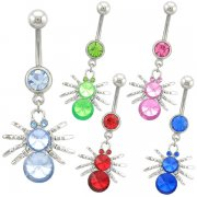 Hot Spider Navel Rings <B>($0.99 Each)</b>
