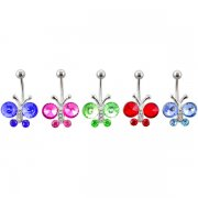 7 Gems Butterfly Rings <B>($0.99 Each)</b>