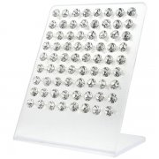 Cubic Zirconia 8mm Crystal Ear Studs w/ Display <b>($1.37/PAIR)</b>