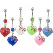Strapped Heart Navel Ring <B>($0.91 Each)</b>