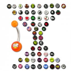 Logos Mega Pack - UV Navel Rings <B>($0.45 Each)</b>