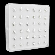 925 Sterling Silver Marijuana Leaf Nose Studs w/ Display <b>($0.17 Each)</b>