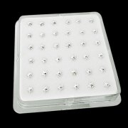 925 Sterling Silver Star Nose Studs w/ Display <b>($0.17 Each)</b>