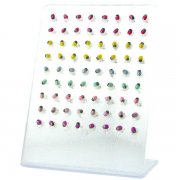 925 Sterling Silver Lady Bug Ear Studs w/ Display <b>($0.45/PAIR)</b>