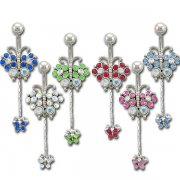 Jeweled Big and Baby Butterfly Navel Rings <B>($0.82 Each)</b>