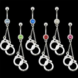Handcuffs Navel Rings <B>($0.82 Each)</b>