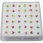 925 Sterling Silver LADY BUG Nose Studs w/ Display <b>($0.17 Each)</b>