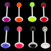 UV Reactive UFO Tongue Barbell <B>($0.13 Each)</B>