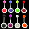 UV Reactive UFO Navel Rings <B>($0.13 Each)</B>