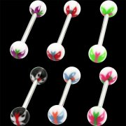 UV Reactive Butterfly Tongue Barbells <B>($0.34 Each)</B>