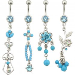 Turquoise Collection Navel Rings <B>($1.23 Each)</b>
