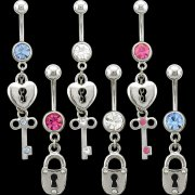 Locks Navel Rings <B>($0.82 Each)</b>