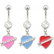 Love Struck Heart Navel Ring <b>($1.23 Each)</b>