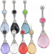 Zara Big Teardrop Navel Rings <B>($0.70 Each)</b>
