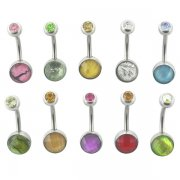 New! Precious Stones Belly Rings <B>($0.70 Each)</b>