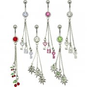 Triple Dangle Navel Rings <B>($1.65 Each)</b>
