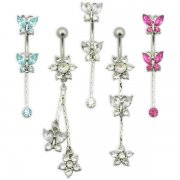 Jeweled Butterflies and Flowers <b>($0.99 Each)</b>