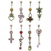 Unique Metals Navel Rings <B>($0.77 Each)</b>