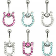 Jeweled Shield Navel Rings <b>($0.99 Each)</b>