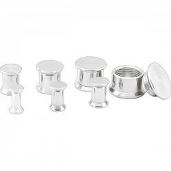 Surgical Steel BOX Flesh Tunnel Screw Fit <B>($0.99 Each)</B>