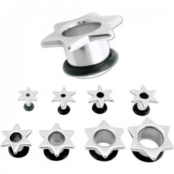 Surgical Steel STAR Ear Plug <B>($1.23 Each)</B>