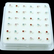 925 Sterling Silver DOLPHIN Nose Studs w/ Display <b>($0.17 Each)</b>