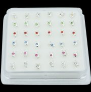 925 Sterling Silver BUNNY Nose Studs w/ Display <b>($0.17 Each)</b>