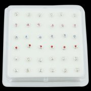 925 Sterling Silver FLOWER Nose Studs w/ Display <b>($0.17 Each)</b>