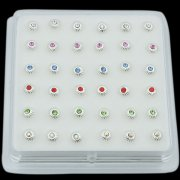 925 Sterling Silver UMBRELLA Nose Studs w/ Display <b>($0.17 Each)</b>